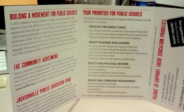 Photo of printed community agreement