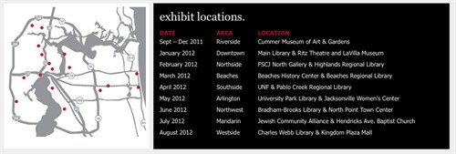ONE by ONE - the movement is growing! Exhibit Locations 11272011